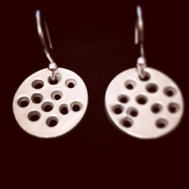Little Dotty- Fine silver earrings